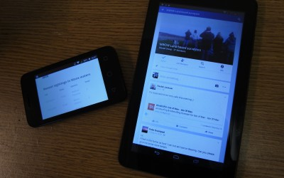 Brand new tablet and smart phone notify facebook and twitter users of live sightings
